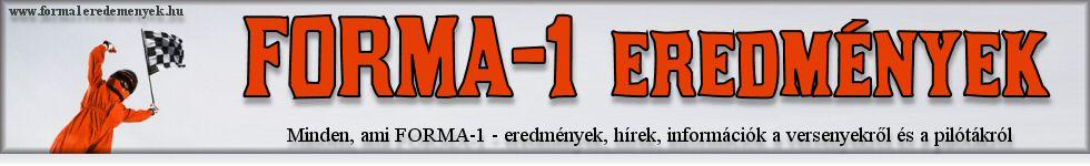 Forma-1 eredmények honlap